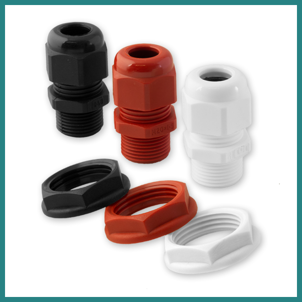 Dome Top Glands & Nylon Locknut